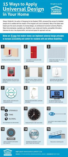 Applying Universal Design Be Your Own Interior Designer With These Infographics • Page 7 of 10 • BoredBug