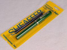 NEW Old Stock Sheaffer No Nonsense Fountain Pen MED POINT Sealed Package - GREEN #Sheaffer