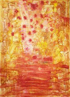 إحسان صطوف (ذاكرة بستان)  2015 اكريليك على ورق Ehssan Sattouf (Orchard memory) Acrylic on paper