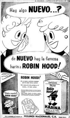 Publicidad de la harina Robin Hood. Publicado el 24 de septiembre de 1959.