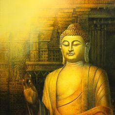 Buddha - Portrait/Figures Acrylic Painting | World Art Community