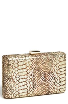 Natasha Couture Sequin Snake Embossed Clutch available at #Nordstrom