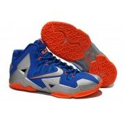Cheap Nike Lebron 11 Blue Grey Orange Shoes $107.90  http://www.blackonshoes.com