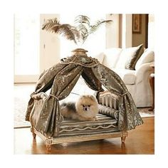 Marie Antoinette pet bed from Regal Chateau Collection