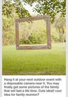 Cool wedding idea