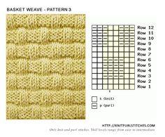 Basket Weave - Pattern 3 | Knit - Purl stitches