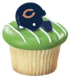 Set of 12 Chicago Bears Cupcake Ring Toppers