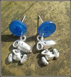 Snoopy charm and blue buttons