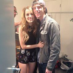 Bridgit & Shane backstage.