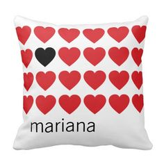 Personalized Name Red Black Hearts Valentines Day Pillow => http://www.zazzle.com/personalized_name_red_black_hearts_valentines_day_pillow-189056534367126111?CMPN=addthis&lang=en&rf=238590879371532555&tc=pinHPmarianaredheartspillow
