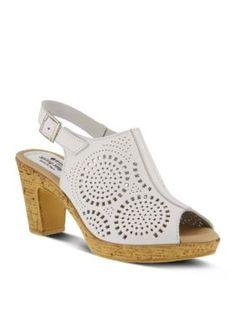 Spring Step White Liberty Sandal