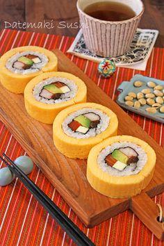 Japanese food / 伊達巻き寿司 (Datemaki sushi)