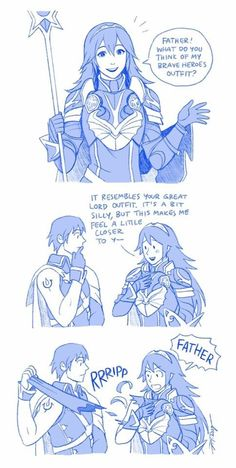 Hahaha! I forgot that Chrom only has one sleeve for his clothes!