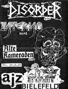 Disorder/Svart Framtid @ AJZ, Bielefeld Germany 8-24-84