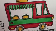 """This video is a tutorial for a """"Tasty Trucks"""" Card featuring the stamp set """"Tasty Trucks"""" from Stampin' up."""