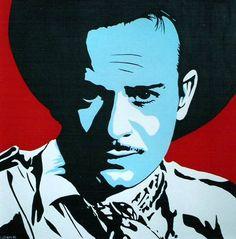 Pedro Infante Pop Art Art Attak, Sketch Manga, Mexico Art, Aztec Art, Mexican American, Cinema Posters, Arte Pop, Stencil Art, Cultura Pop