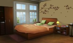 Int Comfy Bedroom Day Anime Background In 2019 Episode Scenery Background, Living Room Background, Animation Background, Yellow Background, Episode Interactive Backgrounds, Episode Backgrounds, Anime Scenery Wallpaper, Anime Backgrounds Wallpapers, Comfy Bedroom