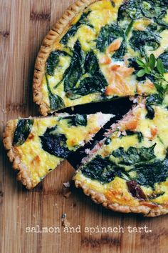 Salmon and Spinach Tart-Torta Salata con Salmone e Spinaci
