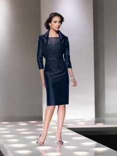Fourreau Batteeau Knee-length Taffetas Lace Dress