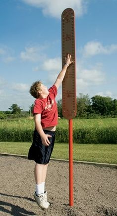 Jump-Touch - Vertical Leap Post with Height Markers for Competition - Landscape Structures