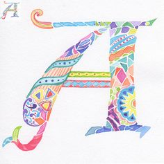 Modern Illuminated Letter A | Flickr - Photo Sharing!
