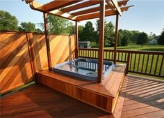 hot tub, like the built-in reduced entry step