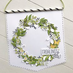 3d Paper Crafts, Paper Art, Arts And Crafts, Stampin Up Ostern, Fall Cards, Easter Wreaths, Stamping Up, Quilling, Floral Wreath