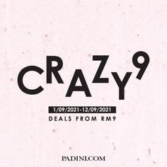 Padini Online Crazy 9 Sale As Low As RM9 from 1 September 2021 until 12 September 2021 Fashion Sale, September