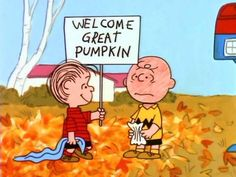 How charmingly pathetic is Charlie Brown? After he was shown getting rocks for Halloween, kids sent sacks of candy to Charles Schulz's studio. 10 Facts About It's the Great Pumpkin, Charlie Brown Charlie Brown Halloween, Great Pumpkin Charlie Brown, Peanuts Halloween, It's The Great Pumpkin, Holidays Halloween, Halloween Fun, Halloween Labels, Halloween Cartoons, Vintage Halloween