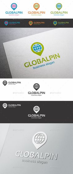Global Pin Point Locator Logo ¨C Simple, unique and elegant pin point logo emblem ¨C An excellent logo template suitable for finance