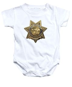 476ec263 'law Enforcement Insignia & Heraldry' Collection By Serge Averbukh Baby  Onesie featuring the