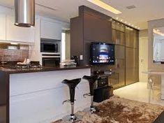 Resultado de imagen para bancada cozinha americana Architecture Design, Kitchen Decor, Kitchen Cabinets, Interior Design, House Styles, Table, Furniture, Home Decor, 30
