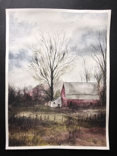 Aquarelle Painting, Landscape Painting, Nature Painting, Home Decor, Wall Decor Watercolor Artists, Watercolor Paintings, Original Paintings, Nature Paintings, Landscape Paintings, Landscapes, Pencil Art Drawings, Winter Landscape, Textile Art