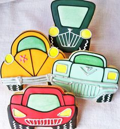 Cool Cars 1 Dozen by LindasEdibleArt on Etsy Car Cookies, Cupcake Cookies, Cupcakes, Soy Products, Pure Products, Buttery Sugar Cookies, Watermelon Crafts, Sugar Cookie Dough, Think Food