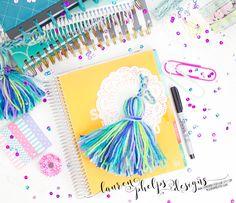 SPRING >>> Spring Beauty JUMBO yarn tassel for Erin Condren, Plum Paper, Happy Planner, InkWell Press, Day Designer, LimeLife, & others by LaurenPhelpsDesigns on Etsy
