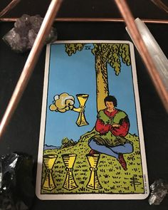 """3rdeyeMagick on Instagram: """"To whom this message resonates with ~ 08/05/2020-Four of Cups: ~ 'He who wants to reach for the sky must first delve deep within himself.'…"""""""
