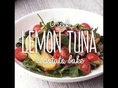 Sirena Greek Lemon Tuna and Potato Bake Recipe Tuna Potato Bake, Tuna Bake, Baking Recipes, Greek, Lemon, Potatoes, Cooking Recipes, Potato, Grilling Recipes