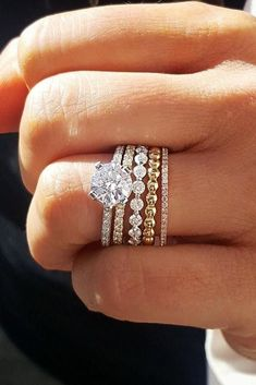 Wedding Rings Sets On Pinterest