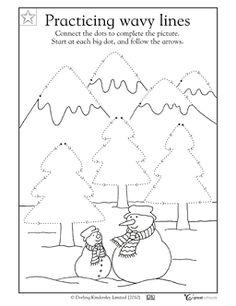 Preschool writing worksheet