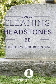 Penny on headstone
