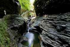 Watkins Glen State Park, New YorkWe all know Niagara Falls is a sight to see, but located south of Seneca Lake in the Finger Lakes region lies a lesser-known fantasy-like area called Rainbow Bridge. Oh The Places You'll Go, Places To Travel, Places To Visit, Bryce Canyon, State Parks, Lago Tahoe, Watkins Glen State Park, Places In America, Belleza Natural