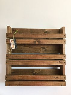 Spice rack Rustic spice rack with 3 shelves Kitchen