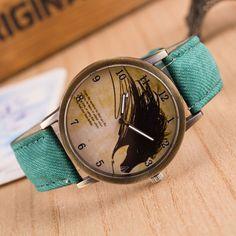 Vintage Horse Painting Wrist Watch