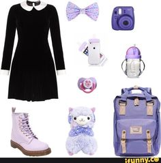 A fashion look from February 2017 featuring pre owned shoes, pocket backpack and vintage velvet dress. Browse and shop related looks. Black Little Girls, Daddy Dom Little Girl, Little Girl Outfits, Ddlg Outfits, Cute Outfits, Fashion Outfits, Pastel Fashion, Kawaii Fashion, Doll Style