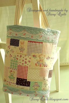 handmade zakka style tote bag 2.