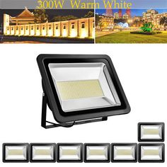 8X US Stock! 300W LED Flood Light Warm White Bright IP65 Outdoor Path Waterproof