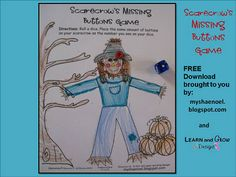 My Shae Noel - Home of Learn and Grow Designs: All Things Scarecrows: Art Projects, Math Game, Printable Dice, Children's Book Reviews, and FREE Downloads