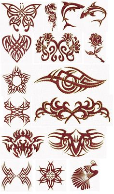 Tribal Designs 4x4 by Aloegem Embroidery - $10.00 : Embroidery Passbook, Embroidery Designs