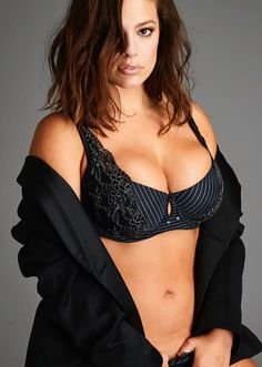 Ashley Graham  The Sports Illustrated Swimsuit Issue cover girl modeled a  striped bra from her third lingerie collection for Addition Elle on Oct. 807dd5ac419