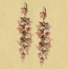 Michal Negrin  hyacinth earrings